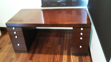 Walnut Veneered Desk