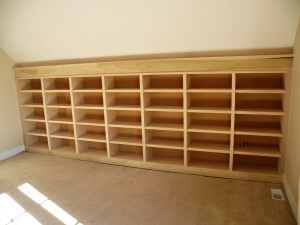Custom Built In Shelving